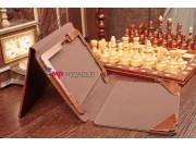 Фирменный оригинальный чехол для Acer Iconia Tab W5/W510/W511 с отделением под клавиатуру коричневый кожаный..
