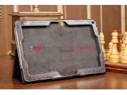 Фирменный чехол-обложка для Acer Iconia Tab W510/W511 черный кожаный