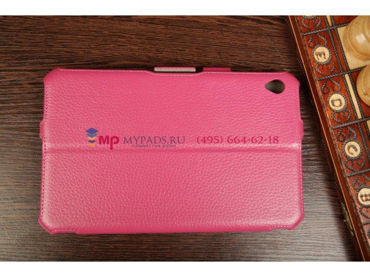 Фирменный чехол для Acer Iconia Tab W3-810/811 с мульти-подставкой и держателем для руки малиновый натуральная..