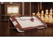 Фирменный чехол-обложка для Acer Iconia Tab W3-810/811 коричневый кожаный..