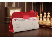 Фирменный чехол-обложка для Acer Iconia Tab W3-810/811 красный кожаный