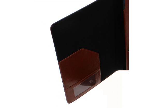 Чехол-сумка для Acer Aspire Switch 10 E (SW3-013) с отделением отсеком для клавиатуры коричневый кожаный