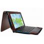 Чехол-сумка для Acer Aspire Switch 10 E (SW3-013) с отделением отсеком для клавиатуры коричневый кожаный..