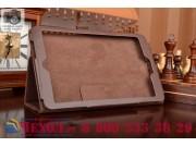 Чехол для Acer One 8 B1-820/821 коричневый кожаный..