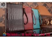 Фирменный роскошный эксклюзивный чехол-клатч/портмоне/сумочка/кошелек из лаковой кожи крокодила для планшета A..