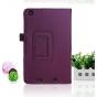 Фирменный чехол-обложка с подставкой для Acer Iconia Tab One B1-730/B7-731HD фиолетовый кожаный..