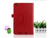 Чехол-обложка с подставкой для Acer Iconia Tab One B1-730/B7-731HD красный кожаный..