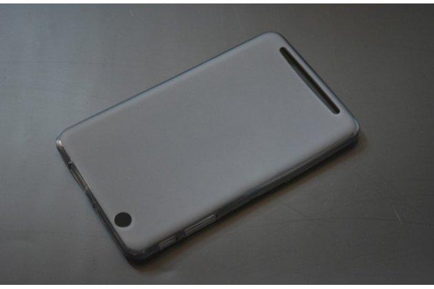 """Фирменная ультра-тонкая полимерная из мягкого качественного силикона задняя панель-чехол-накладка для планшета Acer Iconia Tab B1-750/B1-751 7.0"""" черная"""