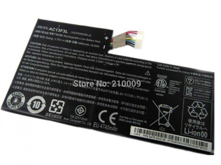 Фирменная аккумуляторная батарея  5340 mah AC13F8L на планшет Acer Iconia Tab W4-820/W4-821 + инструменты для ..
