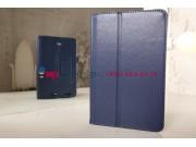 Фирменный чехол-обложка для Acer Iconia Tab A1-713HD синий кожаный..