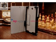 Фирменный оригинальный чехол-книжка для Acer Tab 7 A1-713/A1-713HD с мягкой противоударной подкладкой черный
