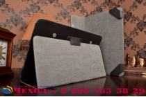Фирменный чехол-футляр для Acer Aspire Switch 11 / 11 V (SW5-111P / 171P) с отделением под клавиатуру /док станцию черный кожаный