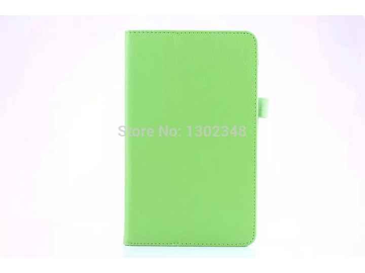 Фирменный чехол бизнес класса для Acer Iconia Tab 8W W1-810-11ML с визитницей и держателем для руки зелёный на..