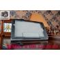Фирменный чехол бизнес класса для Acer Iconia One 8 B1-810-19LV с визитницей и держателем для руки черный нату..