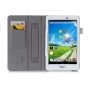 Фирменный чехол бизнес класса для Acer Iconia One 8 B1-810-19LV с визитницей и держателем для руки белый натур..