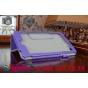 Фирменный чехол бизнес класса для Acer Iconia One 8 B1-810/B1-811 с визитницей и держателем для руки фиолетовы..