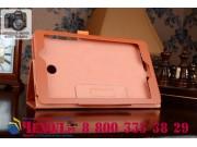 Фирменный чехол для Acer Iconia Tab 8 A1-840FHD оранжевый кожаный..