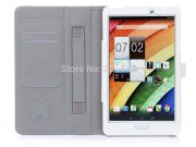 Фирменный чехол бизнес класса для Acer Iconia Tab 8 A1-840/A1-841 FHD с визитницей и держателем для руки белый..