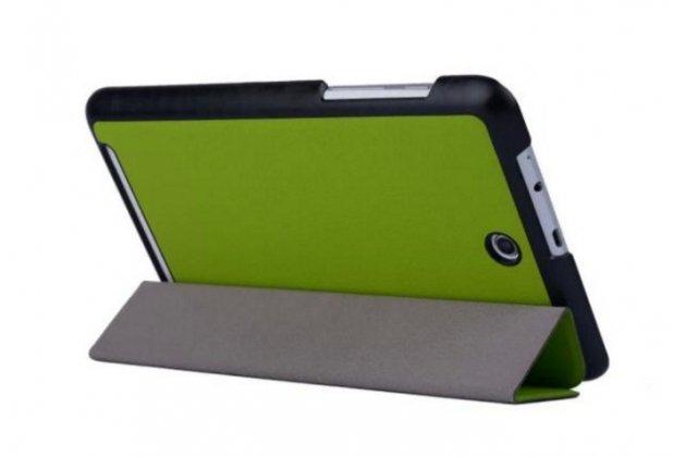 """Фирменный умный тонкий легкий чехол для Acer Iconia Tab 8W W1-810/ W1-811 """"Il Sottile"""" зеленый пластиковый"""