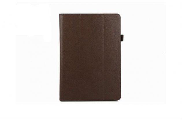 Фирменный чехол-книжка для Acer Iconia Tab A3-A10/A3-A11 коричневый кожаный
