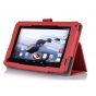 Фирменный чехол бизнес класса для Acer Iconia Tab B1-720/B1-721 с визитницей и держателем для руки красный нат..