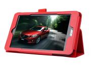 Чехол для Acer Iconia Tab B1-750/B1-751 красный кожаный..