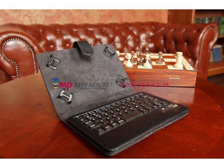 Чехол со съёмной Bluetooth-клавиатурой для планшета Acer Iconia Tab One X 7 B1-740/B1-741 черный кожаный + гар..