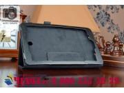 Фирменный оригинальный чехол обложка с подставкой для Acer Iconia Tab 8W W1-810 черный кожаный..