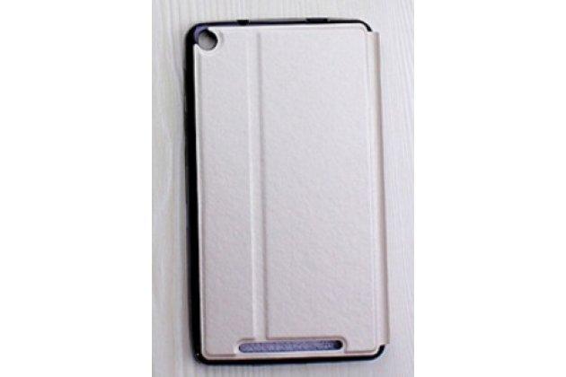 """Фирменный умный тонкий легкий чехол для Acer Iconia One 7 Hd B1-760HD (K057 / NT.LB1EE.004) """"Il Sottile"""" золотой пластиковый"""