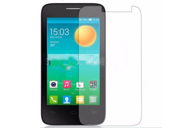 Фирменная оригинальная защитная пленка для телефона Alcatel One Touch POP D3 4035D/X глянцевая