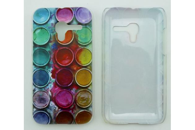 """Фирменная необычная из легчайшего и тончайшего пластика задняя панель-чехол-накладка для Alcatel One Touch POP D3 4035D/X  """"тематика Краски"""""""