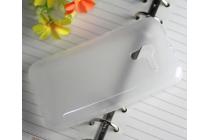 Фирменная ультра-тонкая полимерная из мягкого качественного силикона задняя панель-чехол-накладка для Alcatel One Touch POP D3 4035D/X  белая