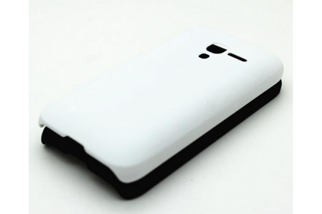Фирменная задняя панель-крышка-накладка из тончайшего и прочного пластика для Alcatel One Touch POP D3 4035D/X  белая