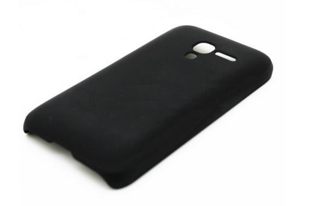 Фирменная задняя панель-крышка-накладка из тончайшего и прочного пластика для Alcatel One Touch POP D3 4035D/X черная