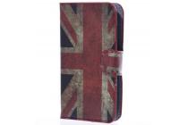 """Фирменный уникальный необычный чехол-книжка для Alcatel One Touch POP D3 4035D/X """"тематика британский флаг"""""""