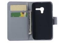 """Фирменный уникальный необычный чехол-книжка для Alcatel One Touch POP D3 4035D/X """"тематика Сова"""""""