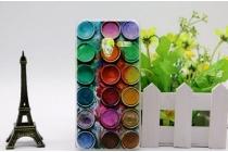 """Фирменная необычная из легчайшего и тончайшего пластика задняя панель-чехол-накладка для Alcatel PIXI 3 (4.5) 4027D/X / 5017D/X  """"тематика Краски"""""""