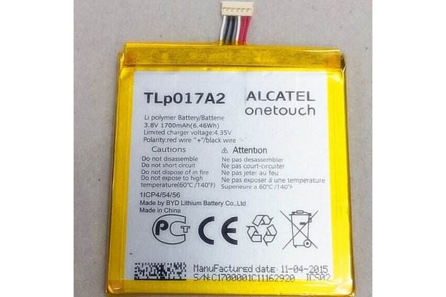 Фирменная аккумуляторная батарея TLP017A1 2000mAh на телефон Alcatel One touch IDOL MINI 6012X / 6012D  + инструменты для вскрытия + гарантия