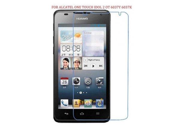 Фирменная оригинальная защитная пленка для телефона Alcatel One Touch Idol 2 OT 6037Y/K/B глянцевая