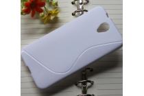 Фирменная ультра-тонкая полимерная из мягкого качественного силикона задняя панель-чехол-накладка для Alcatel One Touch Idol 2 OT 6037Y/K/B  белая