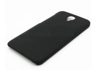 Фирменная задняя панель-крышка-накладка из тончайшего и прочного пластика для Alcatel One Touch Idol 2 OT 6037Y/K/B  черная
