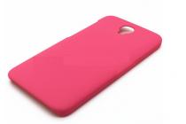 Фирменная задняя панель-крышка-накладка из тончайшего и прочного пластика для Alcatel One Touch Idol 2 OT 6037Y/K/B розовая
