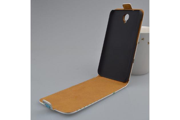"Фирменный вертикальный откидной чехол-флип для Alcatel One Touch Idol 2 OT 6037Y/K/B  ""тематика Сова"""