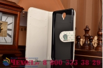 """Фирменный уникальный необычный чехол-книжка для Alcatel One Touch Idol 2 OT 6037Y/K/B   """"тематика Сова"""""""