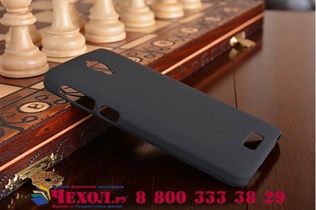 Фирменная ультра-тонкая из качественного пластика задняя панель-чехол-накладка для Alcatel Idol 2 Mini 6016A/D/X черная