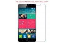 Фирменная оригинальная защитная пленка для телефона Alcatel One Touch Idol X 6040X/6040D глянцевая