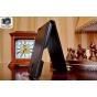 Фирменный оригинальный вертикальный откидной чехол-флип для Alcatel One Touch Idol X 6040X/6040D черный из кач..