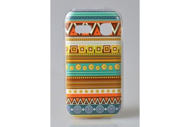 Фирменная роскошная задняя панель-чехол-накладка с безумно красивым расписным эклектичным узором на Alcatel POP C3 4033D