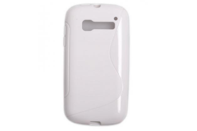 Фирменная ультра-тонкая полимерная из мягкого качественного силикона задняя панель-чехол-накладка для  Alcatel OneTouch Pop C5 5036D/X белая