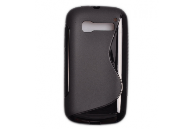 Фирменная ультра-тонкая полимерная из мягкого качественного силикона задняя панель-чехол-накладка для  Alcatel OneTouch Pop C5 5036D/X черная